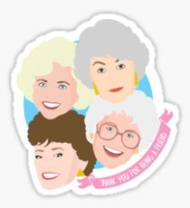 The Golden Girls Thank You For Being A Friend Sticker