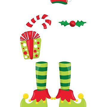 Elf Tshirt Papa Elf Matching Family Elf Shirts  by lepus74