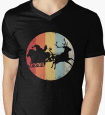 Santa Distressed Vintage Retro Shirt Men's V-Neck T-Shirt