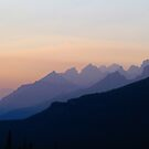 Wildfire Mountains - (part 3) Jasper, Alberta Canada by Barrie Daniels