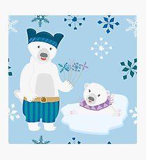 Polar Bear Couple, Polar Bears Photographic Print