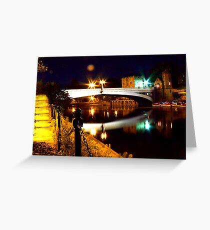 Lendal Bridge - York Greeting Card