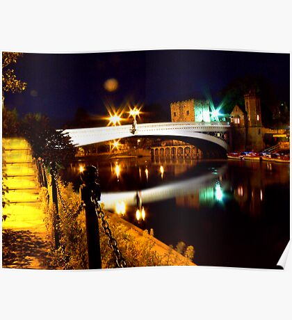 Lendal Bridge - York Poster