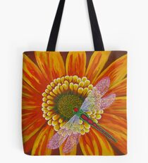 Dragonfly With Sunflower Tote Bag