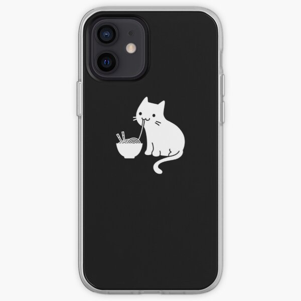 Cute Cat Eating Ramen iPhone Soft Case