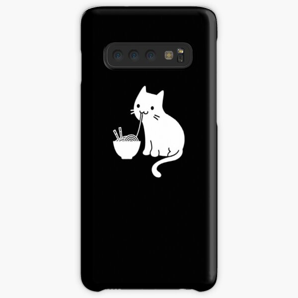 Lindo gato comiendo ramen Funda rígida para Samsung Galaxy