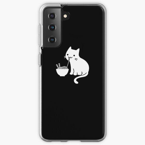 Nette Katze, die Ramen isst Samsung Galaxy Flexible Hülle