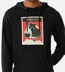 """Kawaii"" Vintage Style Japenese Ramen Cat Lightweight Hoodie"