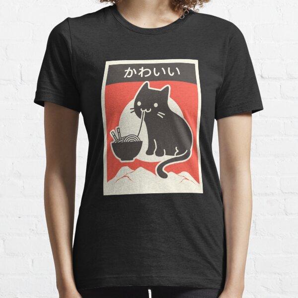 """Japonais"" Ramen Cat ""Kawaii"" style vintage T-shirt essentiel"
