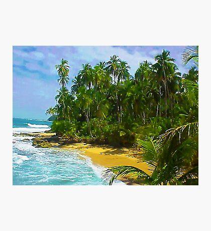 Beach close to Manzanilo, Caribbean, Costa Rica Photographic Print