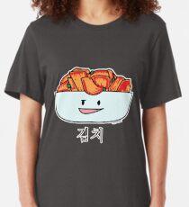 Happy Kimchi Kimchee Bowl Korean Cabbage pickled Slim Fit T-Shirt