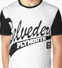 60 Plymouth Belvedere - White Outline Graphic T-Shirt