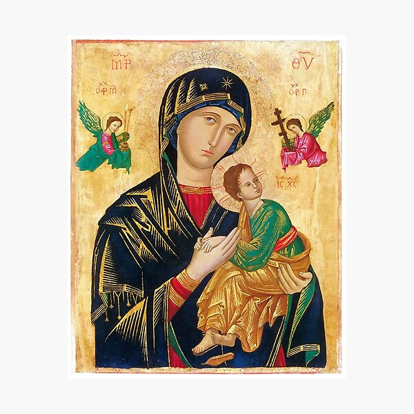 Our Mother of Perpetual Help, icon art Photographic Print