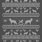 Ugly Christmas sweater dog edition - German shepherd  by Camilla Mikaela Häggblom
