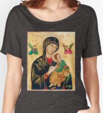 Our Mother of Perpetual Help, icon art Women's Relaxed Fit T-Shirt