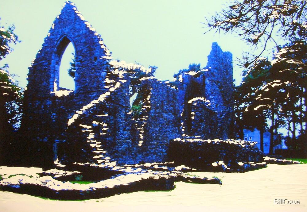 The Cross Kirk, Peebles(digitally enhanced photograph) by BillCowe