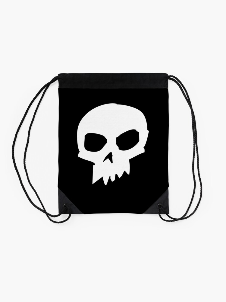 Alternate view of Skull ~ Sid Drawstring Bag
