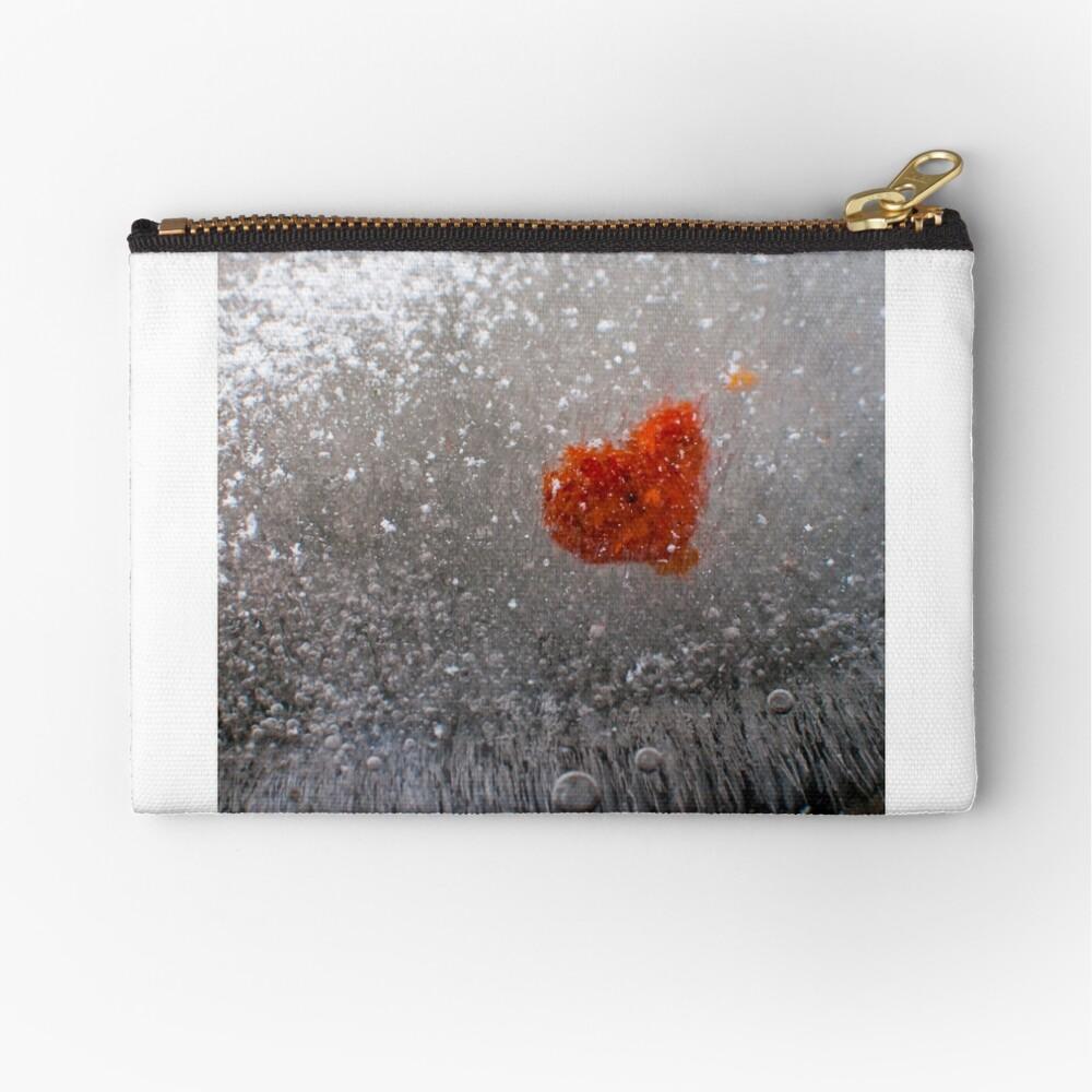 Frozen Heart Zipper Pouch