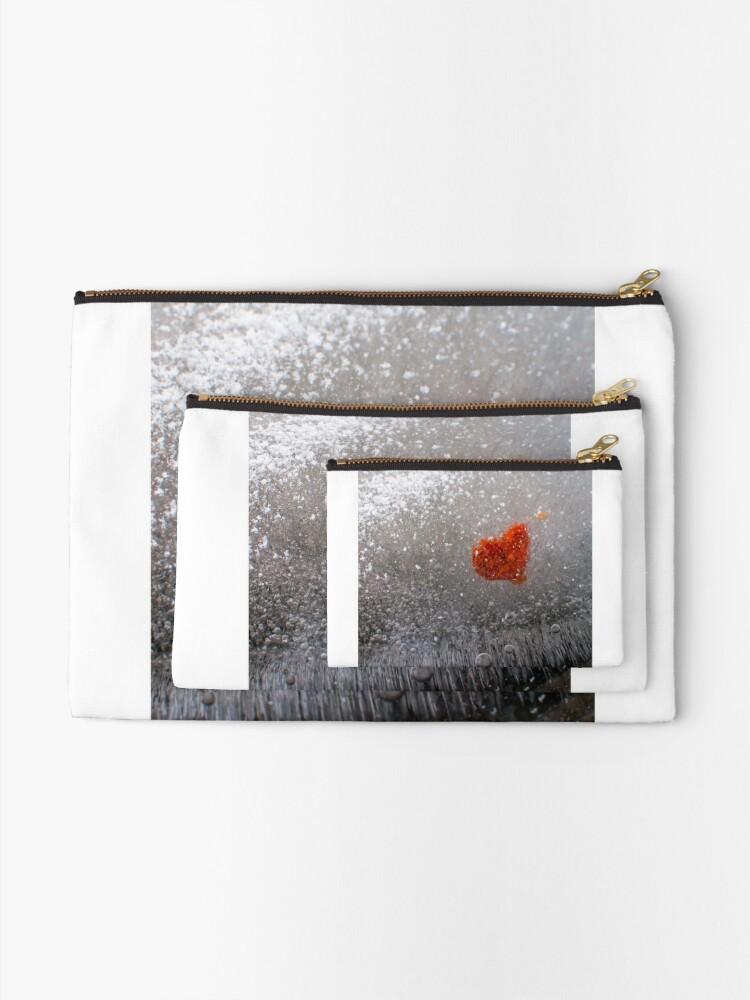 Alternate view of Frozen Heart Zipper Pouch