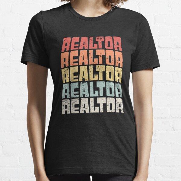 Retro 70s REALTOR Text Essential T-Shirt
