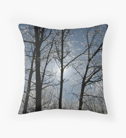 Mother Nature's Crystals Throw Pillow