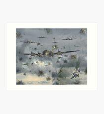 Boeing B-17 Flying Fortress in Heavy Flak  Art Print