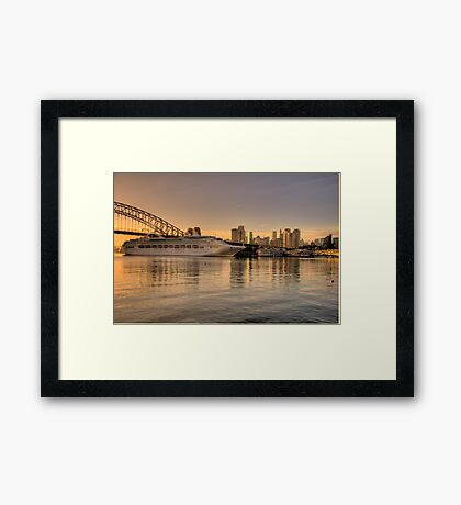 Morning Arrival - Moods Of A City - The HDR Experience Framed Print