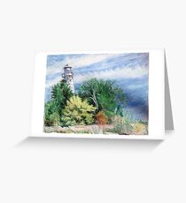 Door County Lighthouse Greeting Card