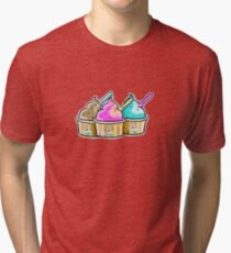 cool cow ice creams Tri-blend T-Shirt