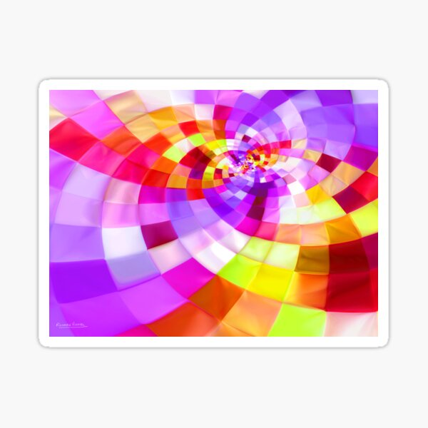 Purple Gold Sticker