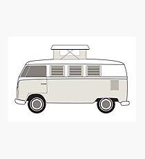 vintage camper bus Photographic Print