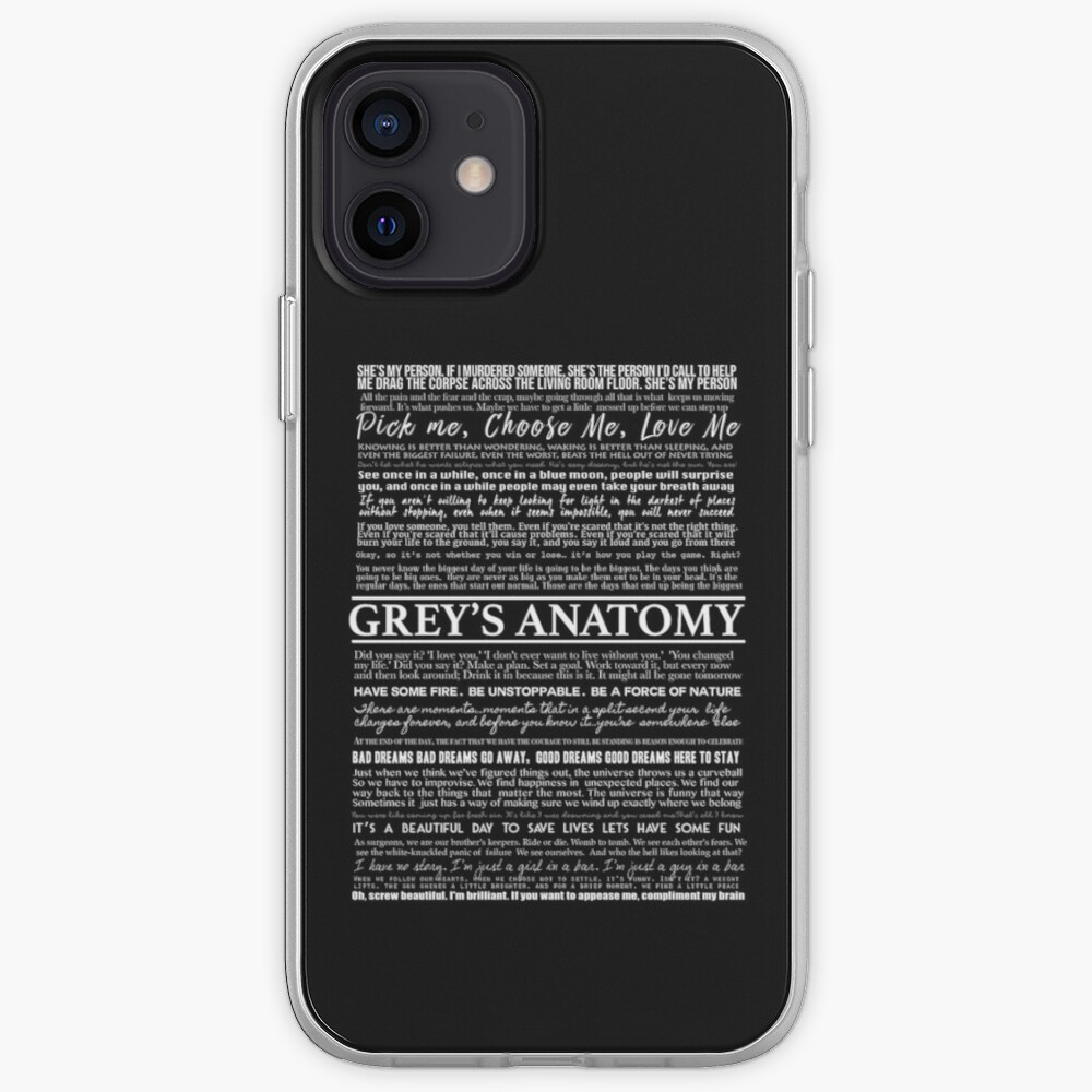 typography black iPhone Case & Cover