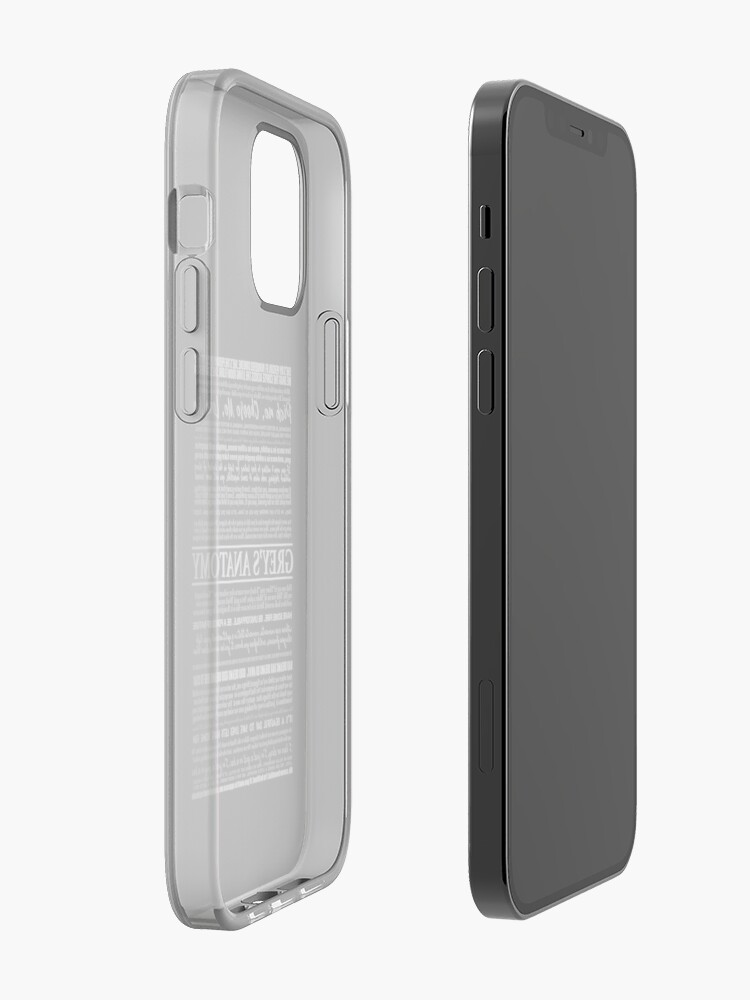 Alternate view of typography black iPhone Case & Cover