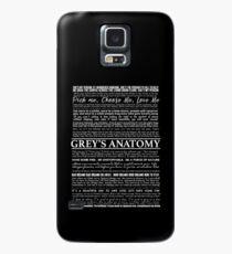 typography black Case/Skin for Samsung Galaxy
