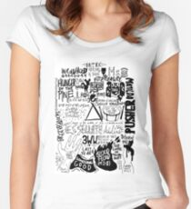 dead in the middle of the c-o-double-m-o-n Women's Fitted Scoop T-Shirt