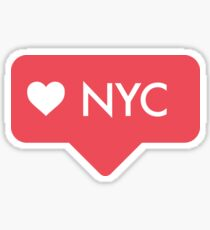 NYC Heart Tag Sticker