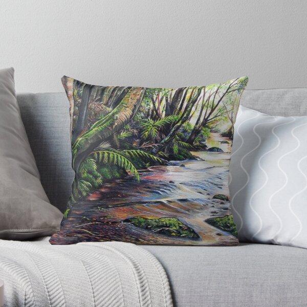Along the Creek, Blue Mountains Throw Pillow