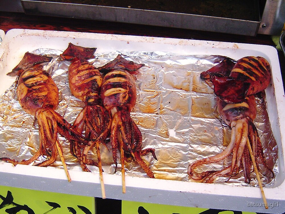 Barbequed Squid!! by satsumagirl