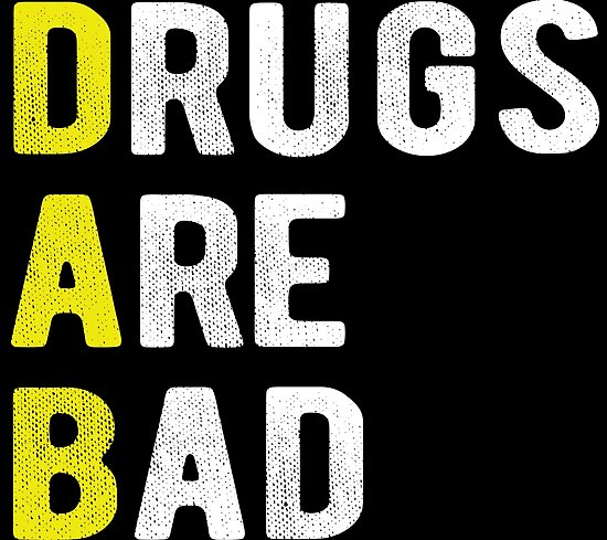 dab drugs are bad posters by overclock360 redbubble