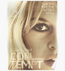 Le mépris (Contempt), Brigitte Bardot, movie poster, french film by Jean-Luc Godard, Fritz Lang, nouvelle vague Poster