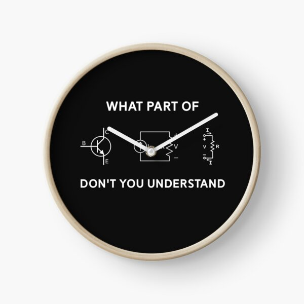 Electrical Engineer T-shirt Gift Funny Engineering Sarcasm Clock