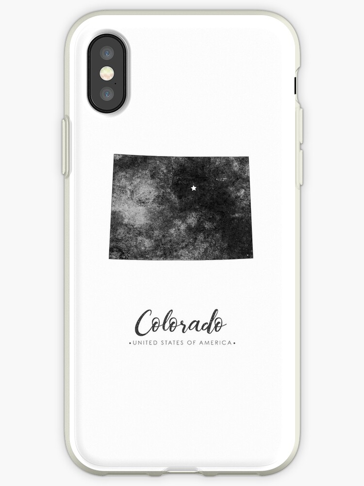 Colorado State Map Art Grunge Silhouette Iphone Cases Covers By