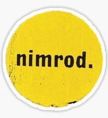 Nimrod green day print  Sticker