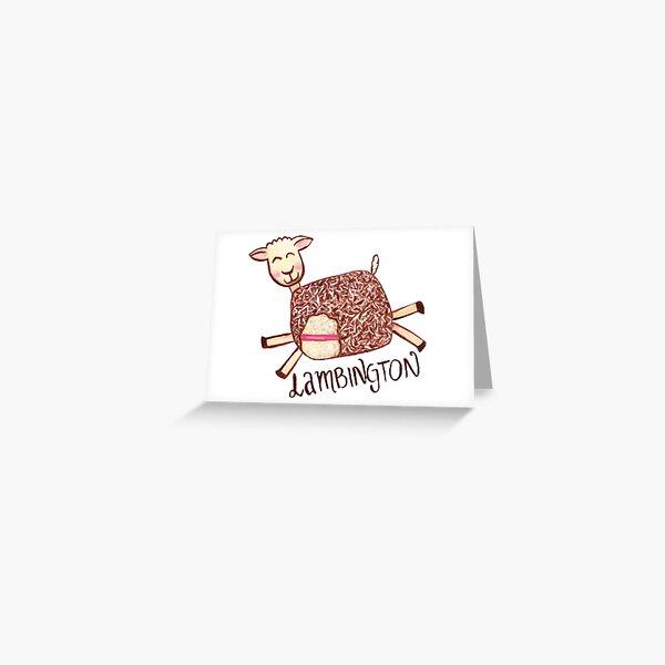 Lambington - White Greeting Card