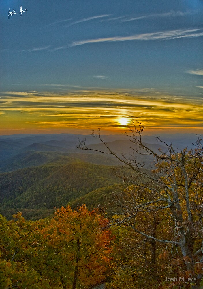 Sunset from atop Blood Mtn. Georgia  by Josh Myers