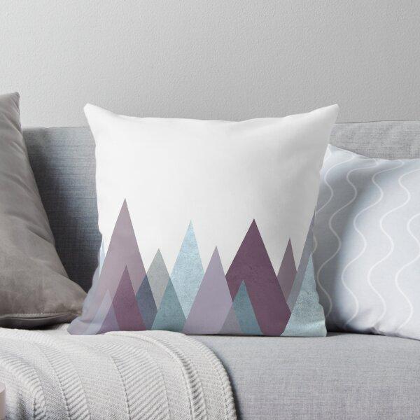 PLUM TURQUOISE GEOMETRIC MOUNTAINS  Throw Pillow