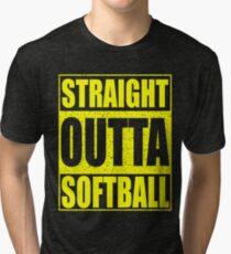 Straight Outta Softball Tri-blend T-Shirt