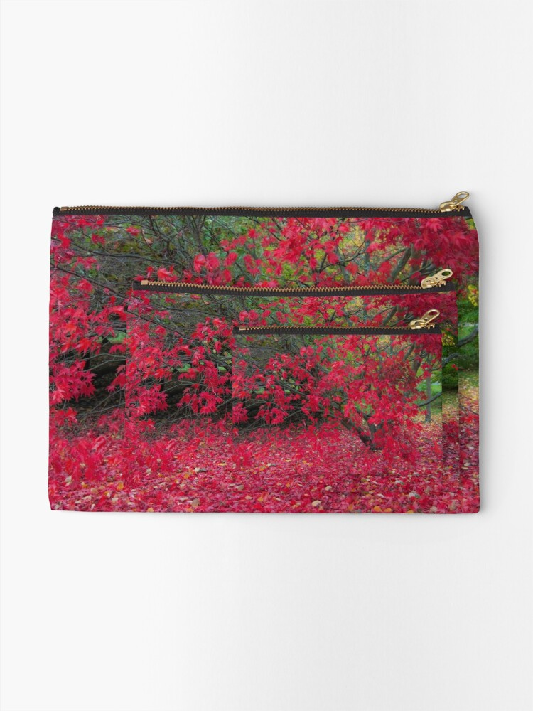 Alternate view of Red Fall Zipper Pouch