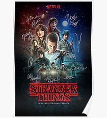 Stranger Things Signature Poster