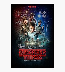 Stranger Things Signature Photographic Print